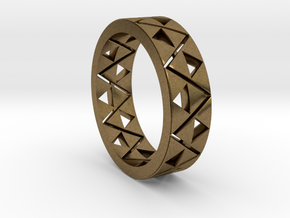 Triforce Ring Size 11.5 in Natural Bronze