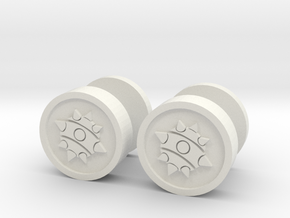Team Fortress 2 Demoman Cufflinks in White Natural Versatile Plastic