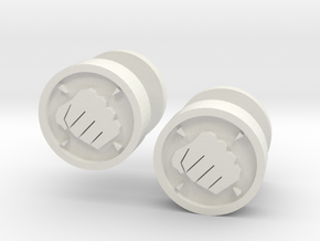 Team Fortress 2 Heavy Cufflink in White Natural Versatile Plastic