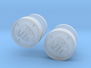 Team Fortress 2 Heavy Cufflink in Smooth Fine Detail Plastic