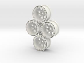 09-BEADLOCK in White Natural Versatile Plastic
