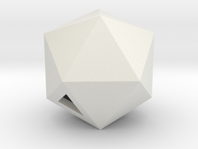 Icosahedron - small / hollow in White Strong & Flexible