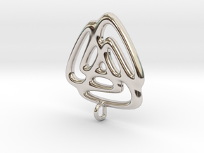 Triangle Fusion Pendant in Platinum