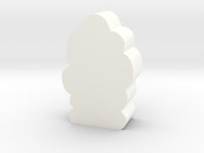 Smoke Column Token in White Processed Versatile Plastic