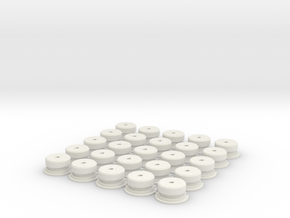 C-Cell Battery Base (25) in White Strong & Flexible