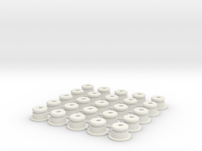 AA-Cell Battery Base (25) in White Strong & Flexible
