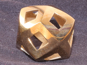 Steinmetz Solid in Polished Brass