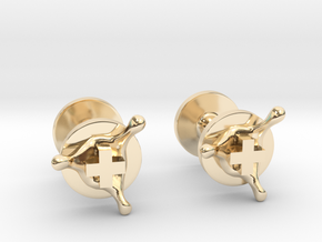 PositiveXSplash cufflinks in 14k Gold Plated