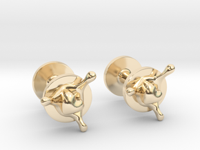 LoveSplash cufflinks in 14k Gold Plated Brass