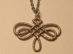 Dragonfly Celtic Knot Pendant in Polished Nickel Steel