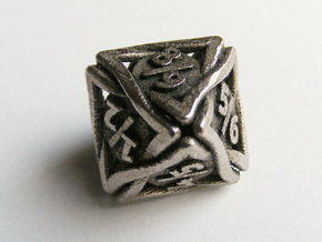 'Twined' Dice D8 Spindown Tarmogoyf P/T Die in Polished Bronzed Silver Steel
