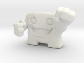 Super Meatboy V2 in White Natural Versatile Plastic