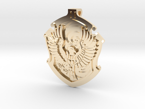 Ravenclaw House Crest - Pendant SMALL in 14k Gold Plated Brass