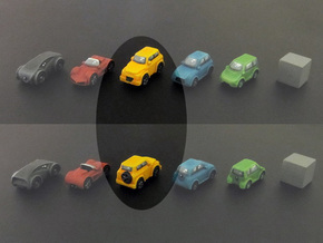 Miniature cars, SUV (8pcs) in Yellow Processed Versatile Plastic