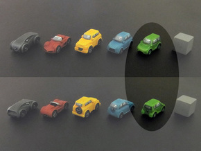 Miniature cars, Mini-car model (8pcs) in Green Strong & Flexible Polished