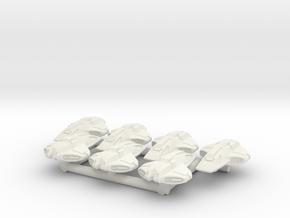 1/1000 Scale Super Scamper, Crockett Class in White Natural Versatile Plastic