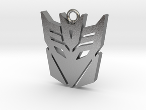 Transformers pendant in Natural Silver