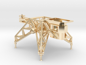 018A LLTV - Lunar Landing Training Vehicle - 1/144 in 14k Gold Plated Brass
