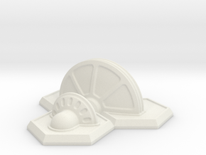 32x3 Shield Generator in White Natural Versatile Plastic