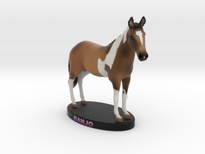 Custom Horse Figurine - Banjo in Full Color Sandstone