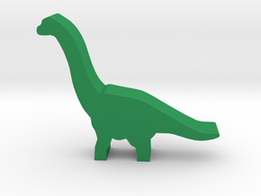 Dino Meeple, Brachiosaurus in Green Strong & Flexible Polished