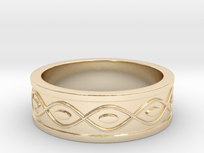 Ring with Eyes in 14K Yellow Gold