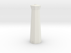 6mm Airport Control Tower in White Natural Versatile Plastic