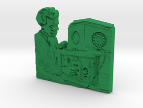 TV_inventor Philo Farnsworth in Green Processed Versatile Plastic