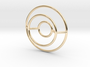 O Pendant in 14k Gold Plated Brass