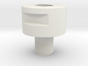 Adapter Male 14mm CW to Female 14mm CCW in White Natural Versatile Plastic