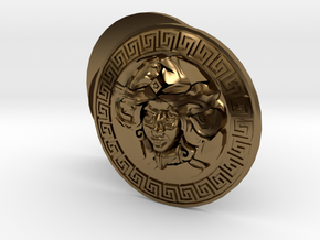 Beer Goddess Cufflinks  in Polished Bronze