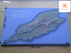 Large Satellite Mountain Course in Full Color Sandstone