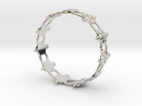Turtles Bracelet in Rhodium Plated Brass