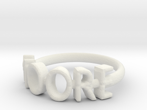 Moore Ring Size 6 in White Natural Versatile Plastic