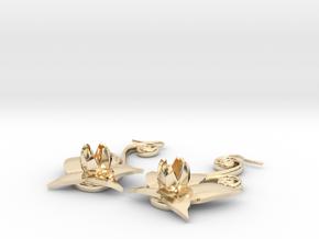 Flower Earrings in 14k Gold Plated Brass