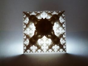 Bulby Fractal Pyramid in White Natural Versatile Plastic