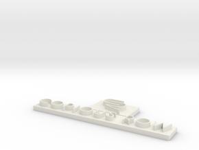 Copious Row Long Logo in White Natural Versatile Plastic