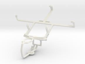 Controller mount for PS3 & LG Optimus LTE SU640 in White Natural Versatile Plastic