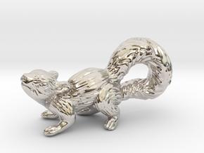Squirrel Pendant in Rhodium Plated Brass