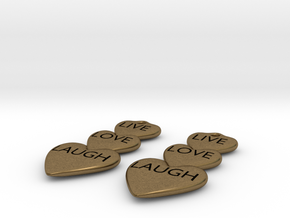 Live Love Laugh Hearts Earrings in Natural Bronze