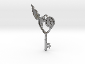 Key Pendant in Natural Silver