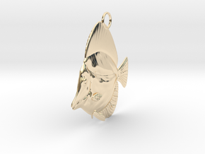 Fish Pendant in 14k Gold Plated Brass
