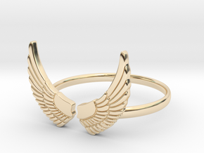Wings Ring in 14k Gold Plated Brass