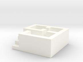 Building Ashtray in White Processed Versatile Plastic