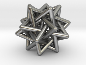 Merkaba Pendant in Natural Silver