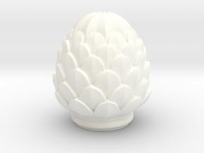 Pine Cone in White Processed Versatile Plastic