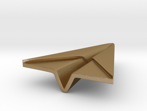 Paperplane in Polished Gold Steel