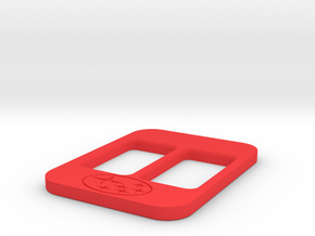 BRZ Limited Blank Console Plate 005 in Red Processed Versatile Plastic