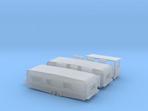 2 Tandemwohnwagen 8 m für 1:220 (z scale) in Smooth Fine Detail Plastic