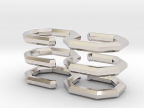 S-Clasp Ver 2 [3] in Rhodium Plated Brass